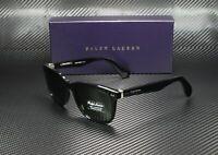 RALPH LAUREN RL8162P 500152 Black Dark Green 56 mm Men's Sunglasses