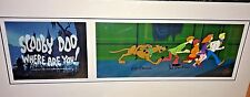 Hanna Barbera Signed Pan Cel Scooby Doo Where Are You Rare Animation Art Cell