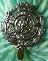 Duke of Connaught Own Cap Badge WM Slider ANTIQUE Original