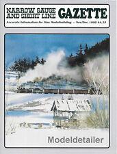 Narrow Gauge Gazette Nov.98 D&RGW Water Tank Sierra NevadaChama Redwoods Mogul