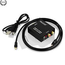 Adaptador RCA óptico Coaxial de Audio Digital a Aanalógico + Cable Toslink 96kHz