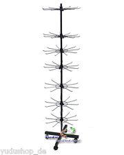 Verkaufsständer mit 7 Etage  Metall  H:160 cm schwarz