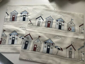 Handmade Set Of 2 Fryetts Beach Hut Cushion Covers - Great Christmas Gift!