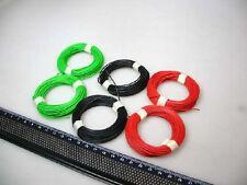( 0,125€/ M) 60 M Toron Rouge/Vert / Noir pour Roco H0+N Rails E #Q9