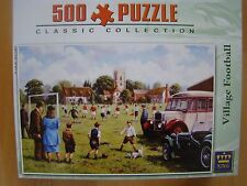 VILLAGE FOOTBALL: PUZZLE 500 PIECES  KING - 31X 47- COMPLET COMME NEUF