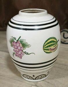 """Large """"Doris Kelly"""" Vintage Urn Vase with Fruit decorations to sides 220mm high"""