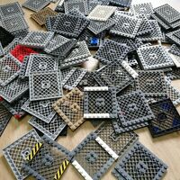 LEGO PARTS - x15 Qty Plate, Modified 8 x 8 with Grill Bulk Mix Packs