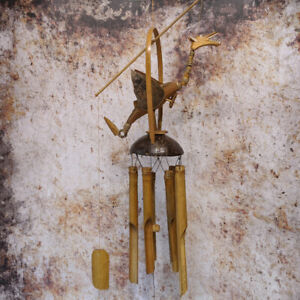 Dragon Wind Chime Natural Bamboo & Coconut Windchime,