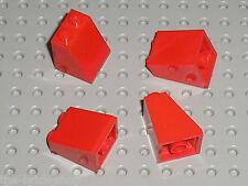 4 x Pièce inclinée LEGO Red slope brick ref 3678b / Set 7898 7239 10151 10216...