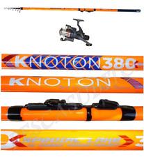 kit canna tremarella knoton 5/10g + mulinello pesca trota lago recupero carbonio