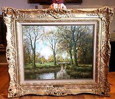 "BELLE Originale Antico ""Willem HENDRIKS"" EARLY 20th CENTURY olandese dipinto ad olio"