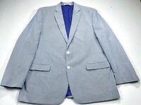 Chaps Ralph Lauren 46L Men's Blue White Stripe 2-Button Jacket Blazer Sport Coat