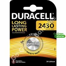 1 x Duracell CR2430 3V Lithium Coin Cell Battery DL2430 K2430L ECR2430