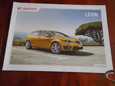 Seat Leon range brochure Aug 2012