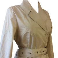Ladies Womens Rain Pac a Mac Lightweight Belted Beige Jackets Coats Size 8 10 12