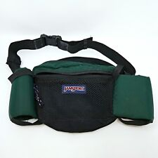 90s JanSport Hiking Green Fanny Pack Waist  w/ Water Bottle holder USA Vintage