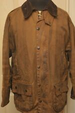 "BARBOUR A821 CLASSIC MOORLAND 46"" WAX HEAVYWEIGHT COTTON JACKET DARK SANDSTONE"
