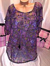 Victorias Secret Swimsuit Swim Cover Sheer Floral Large