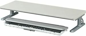 Keyboard slider RESPACE-C W600 with keyboard rack Gray color EAS-DSC6056NM