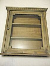 SOUTH WEST, PRIMITIVE VTG RUSTIC FARM MEDICINE / SPICE WOOD WALL CABINET