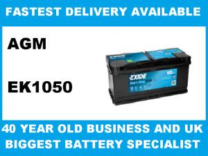 Exide EK1050 AGM 12V 105Ah Car Battery fits many Audi BMW Land Range Rover Porsc