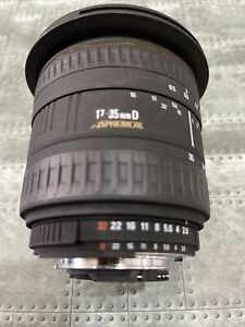 SIGMA ZOOM 17-35mm D F/2.8-4 EX AF Wide Angle Lens for Nikon Great Condition