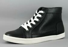 Calvin Klein Martina Womens UK 4 EU 37 Black Perforated Hi Top Sneakers Trainers
