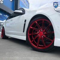 "20"" INOVIT TURBINE Wheels Candy Red Staggered Rims size 20x9 20x10.5 PCD 5x114.3"