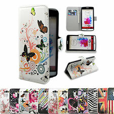 Premium Flip Wallet Case For LG G3 Stand PU Leather Card Holder Shockproof Cover