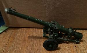 BRITAINS LTD Field Gun Cannon w/ spring & Rubber Wheels