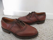 Footjoy Brown Leather Classic Saddle Oxford Golf Shoes Size 5