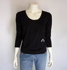 EVISU DONNA shirt longsleeve S zwart NIEUW+LABELS ap:€150