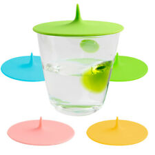Airtight Silicone Cup Protector Lid Cover Cap Mug Glass, Anti Dust (4 Colours)