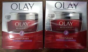 Olay Regenerist Micro-Sculpting Cream Moisturiser NIGHT x 2 Jars