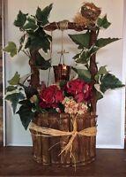 "Wooden Wishing Well Bucket/Basket Flower Planter Patio Garden Home Decor 22"""