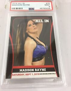 Madison Rayne 2018 All In Aew Tna Roh Wwe Rookie #29 Psa 9 Pop 2