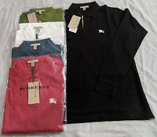 Burberry Brit Men's Long-Sleeve Polo Shirt Check Placket S M L XL 2XL 3XL NEW