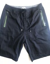 "Costume National Men's Shorts, Black w Lime Green, Size 31, 9"", Button-Fly, EUC"