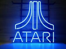 "New Atari Blue Neon Light Sign 14""x10"" Beer Cave Gift Real Glass Poster Game"