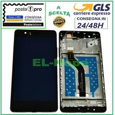 DISPLAY LCD + FRAME PER HUAWEI P9 LITE VNS-L31 L23 L21 TOUCH SCREEN VETRO NERO