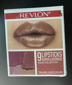 REVLON  9 Lipsticks TRAVEL  Size NUDE Collection
