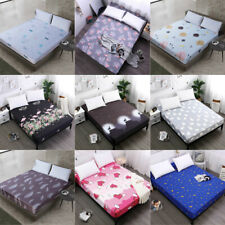 Polyester Bed Sheets Full Fitted Sheet Queen King Cover Bedding Deep Bedspread