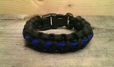 ~Swine Gear~ Thin blue line paracord bracelet