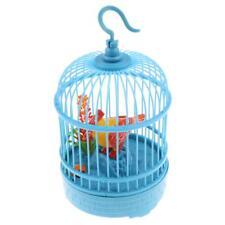 Jouet de Simulation Volière Cage à Oiseaux Vocal Bleu Plastique Déco Maison