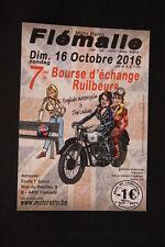 Card / Flyer Moto Retro Flémalle 16 Octobre 2016 (HW)