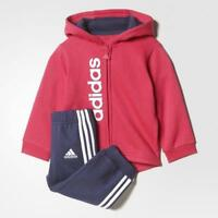 Adidas Infantil Niña Rosa/Azul Marino Chandal para Correr Traje Edades 0-3 Años