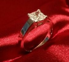 Princess Diamond Solitaire Engagement Anniversary Promise Ring White Gold ov