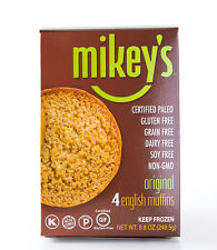 Mikey's Paleo English Muffins, Original Flavor, 4 Per Box (1 Pack)