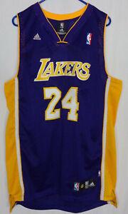 NWOT Kobe Bryant #24 Los Angeles Lakers Men's 2XL Purple Gold Adidas Brand