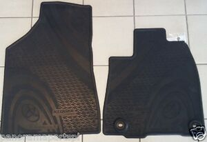 Toyota Kluger Front Rubber Floor Mats GSU55 Charcoal GENUINE NEW